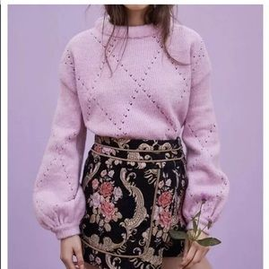 ISO mia pointelle sweater in pink